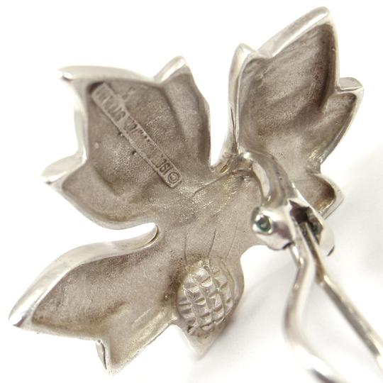 Tiffany & Co. Rare Vintage Sterling Silver LARGE Maple Leaf Earrings Image 4