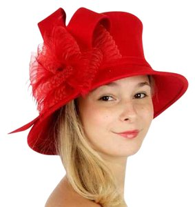 kentucky derby hat New Fashionable Dress Hat Formal Wool bucket hat with ribbon