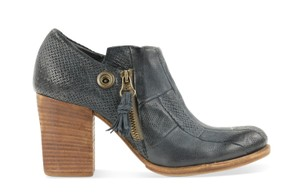 A.S. 98 Leather Heeled Ankle Boot/Loafer Blue Boots