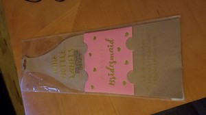 Pink and Gold Bridesmaid Wine Bottle Labels