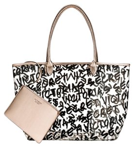 Victoria's Secret Picnic Pool Party Clear Tote with PINK Towel Beach Bag