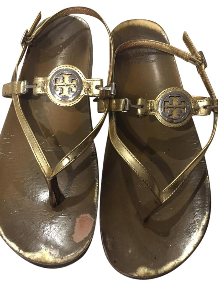 cf5dd7d97b47 Tory Burch Gold Gladiator Sandals Size US 9 Regular (M