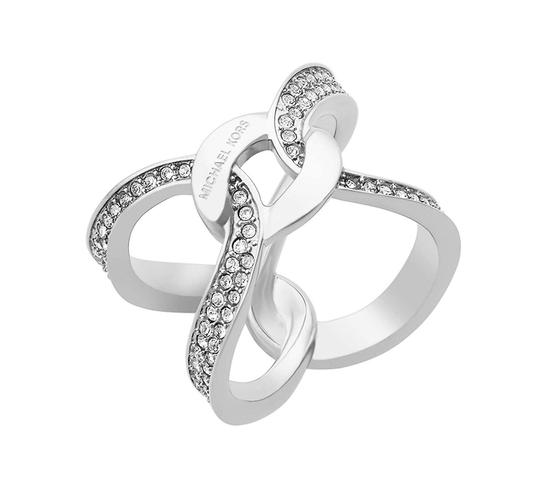 Preload https://img-static.tradesy.com/item/21937339/michael-kors-mkj5949-michael-kors-silver-tone-interlocking-crystal-pave-ring-21937339-0-0-540-540.jpg