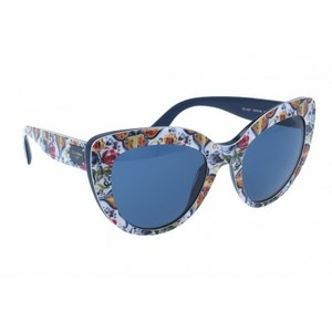 46991169c68e Dolce Gabbana NEW Dolce Gabbana Sicily Oversized Tile Printed Cat Eye  Sunglasses