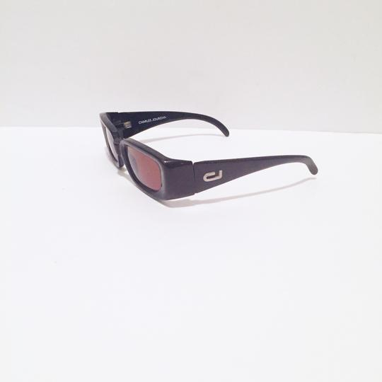 Charles Jourdan classic sunglasses dark brown frame red lens Image 1