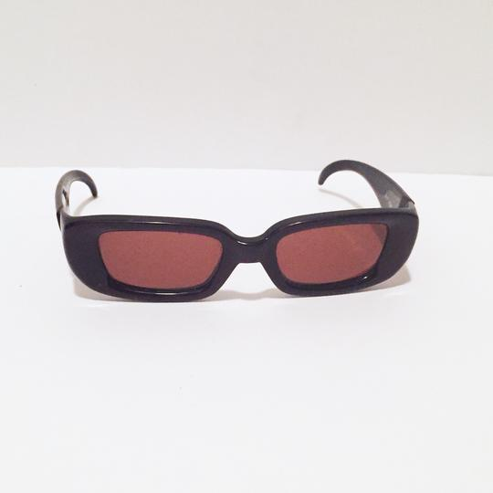Charles Jourdan classic sunglasses dark brown frame red lens Image 2
