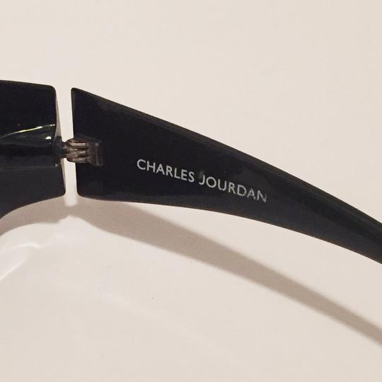 Charles Jourdan classic sunglasses dark brown frame red lens Image 3