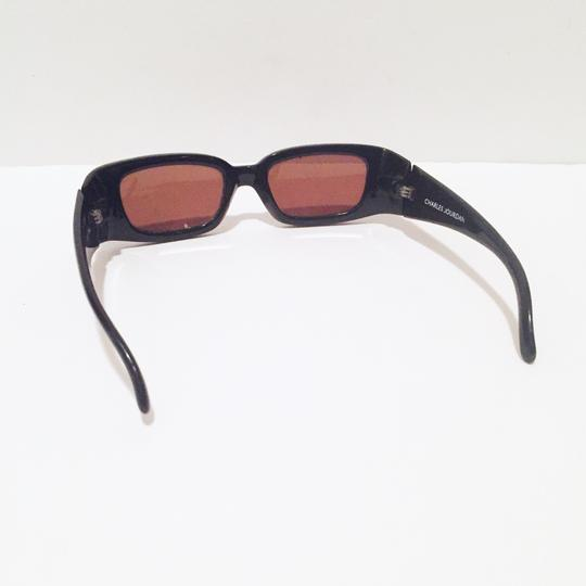 Charles Jourdan classic sunglasses dark brown frame red lens Image 5