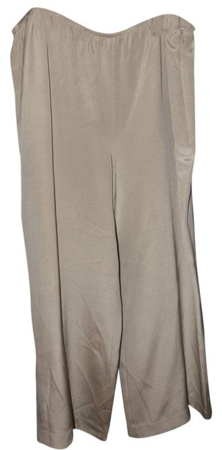 Item - Bone Silk Pants Size 24 (Plus 2x)