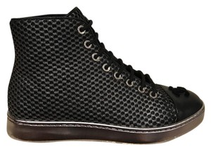 Chanel Logo High Trainer Sneaker Boot black Athletic