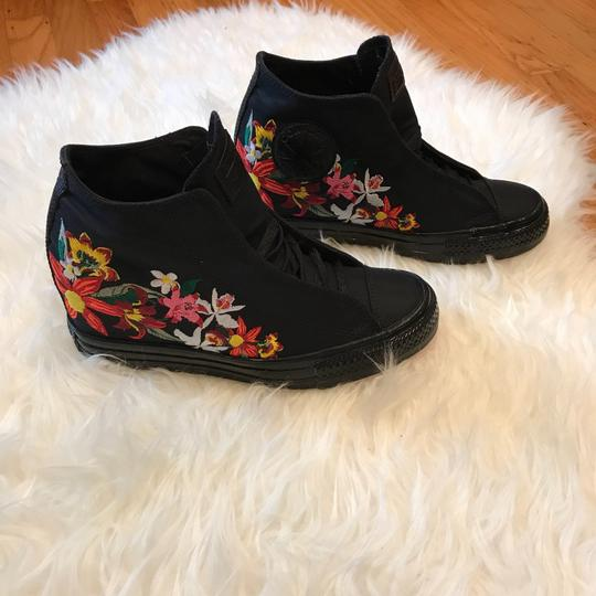 Converse Patbo Floral Embroidered Black Wedges