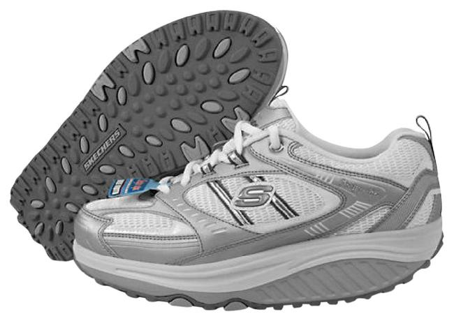 Item - Silver and White Shape-ups Sn11814 Colorslw Sneakers Size US 9.5 Regular (M, B)