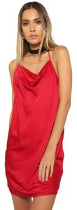 Nasty Gal Red Backless Dress