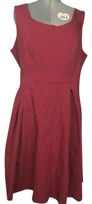 Item - Red Brick Mid-length Short Casual Dress Size 20 (Plus 1x)