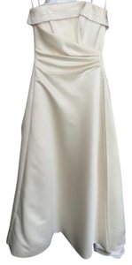 Maggie Sottero Light Gold Satin A3332 Olympia Traditional Wedding Dress Size 4 (S)