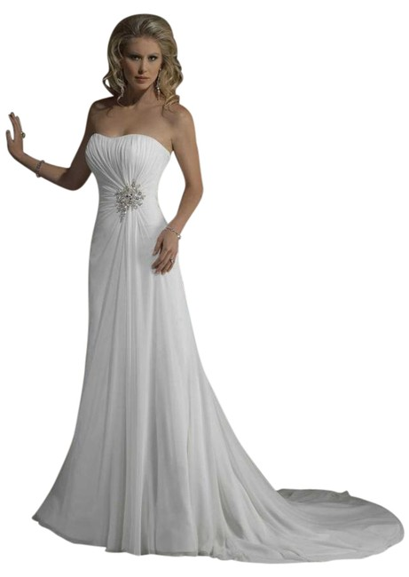 Item - White Chiffon J1396 Teracina Destination Wedding Dress Size OS