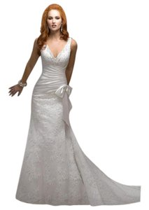 Maggie Sottero Ivory Lace J1531 Retro Wedding Dress Size 12 (L)