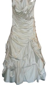 Maggie Sottero Alabaster Satin J1533 Modern Wedding Dress Size 14 (L)
