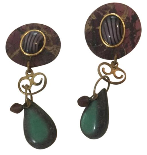 Preload https://img-static.tradesy.com/item/21938981/purple-and-malachite-made-earrings-0-1-540-540.jpg