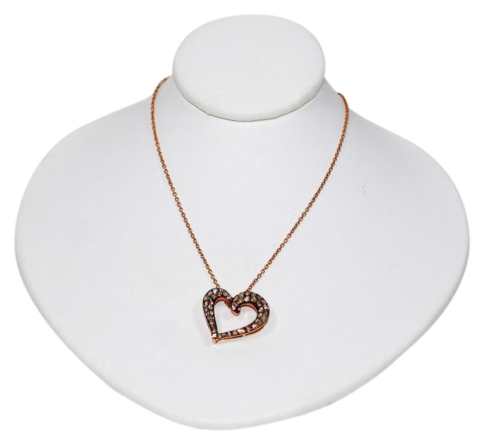 Levian chocolate 50tcw diamond 14kt rose gold heart pendant levian levian 50tcw chocolate diamond 14kt rose gold heart pendant necklace mozeypictures Image collections
