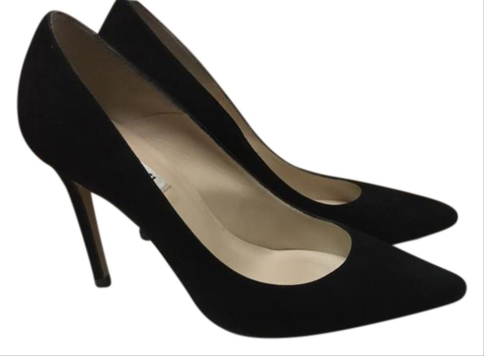 7c7741a9950 L.K. Bennett Suede Classic Stiletto Pointed Toe Black Pumps Image 0 ...
