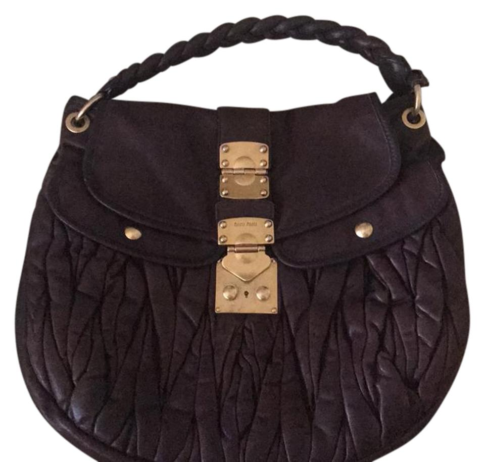 fcd5db81745f Miu Miu Great Dark Brown Shoulder Bag - Tradesy