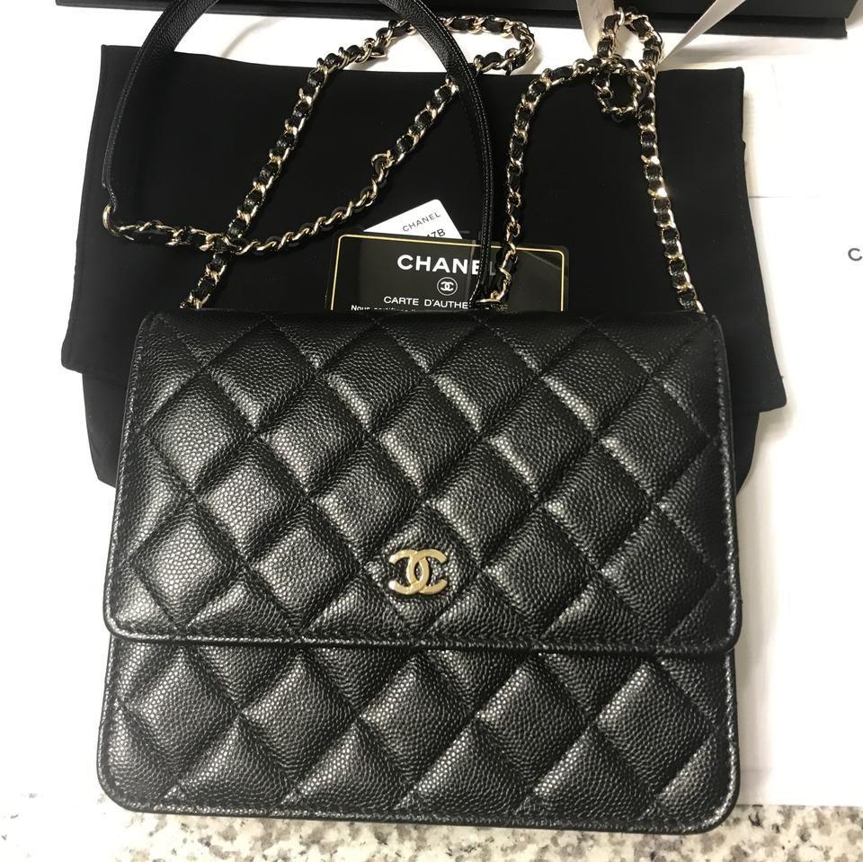 b3ae0031d750 Chanel Wallet on Chain New Square Black Leather Cross Body Bag - Tradesy