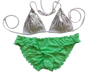 Victoria's Secret Victoria's Secret S Sequin shirred Bikini Set New Without Tags Never Worn