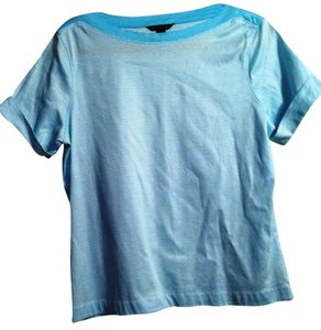 Brooks Brothers T Shirt aqua Turquoise stripe