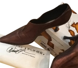 Donald J. Pliner Bronze Leather Boots