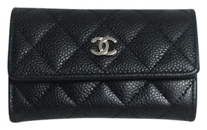 Chanel CHANEL QUILTED CAVIAR BUSINESS CARD