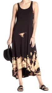 64af9987324 Black Cream Maxi Dress by Go Couture Scoop Neck Cool Racerback Tie-dye  Pattern Super