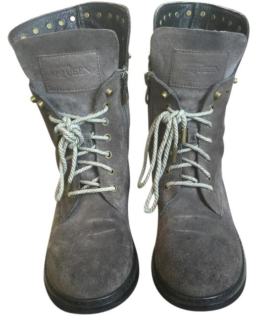 Item - Grey Moto Boots/Booties Size EU 37 (Approx. US 7) Regular (M, B)
