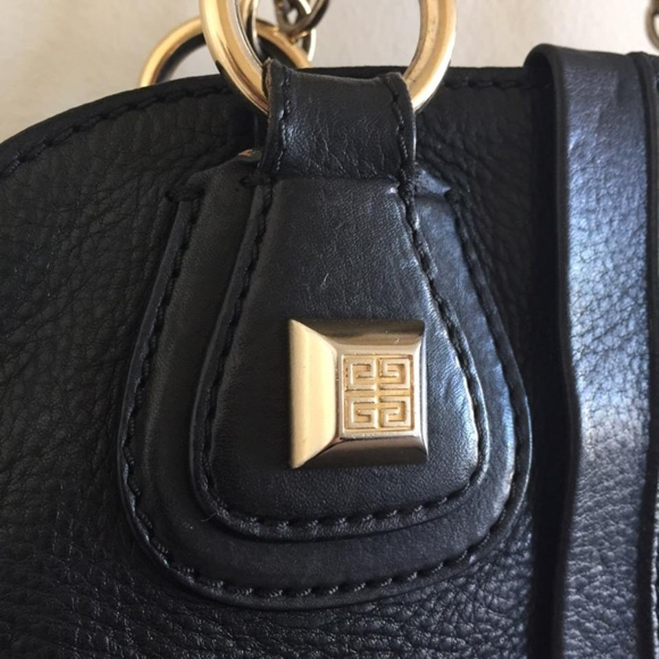a316ff5300 Givenchy Rare Medium Nightingale with Chain Handles Black Gold ...