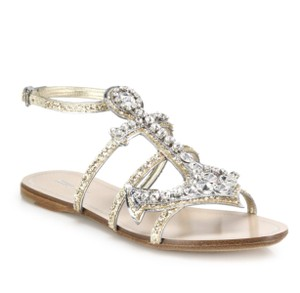 Miu Miu Nautical Anchor Crystal Embellished Multi Sandals