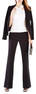 BCBGMAXAZRIA BCBGMAXAZRIA Black Career Suit Flared Pants with Stretch - Tall