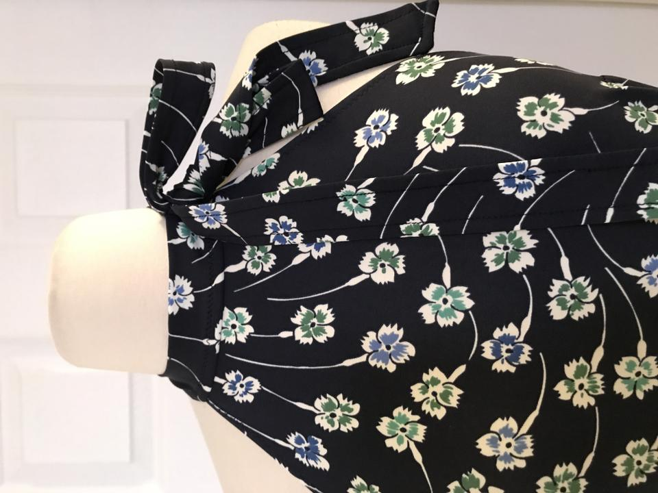 2185665d3543d J.Crew Nana Ditsy Navy Halter Bow-tie Swimsuit In Floral Print One ...