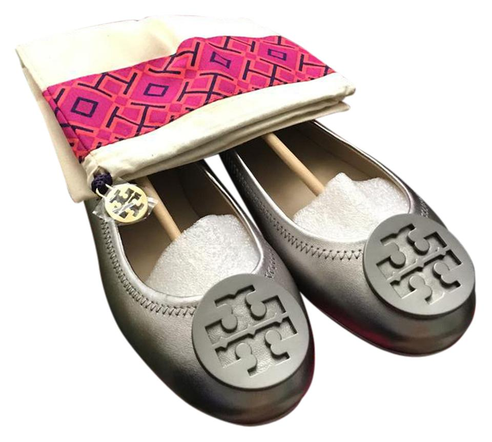 657a87bef61 Tory Burch Pearlized Metallic Minnie Travel Ballet Flats Size US 5.5 ...