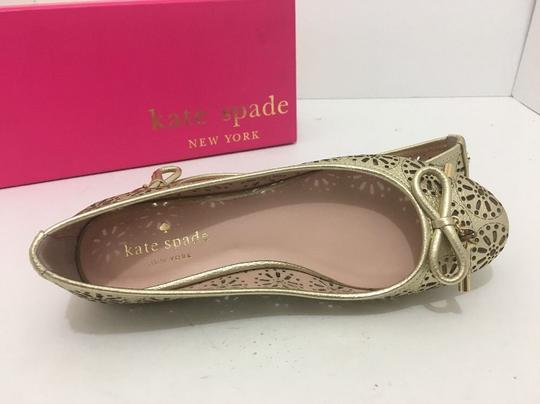 Kate Spade Slip On 6 Gold Metallic Leather Flats Image 6