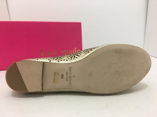 Kate Spade Slip On 6 Gold Metallic Leather Flats Image 8