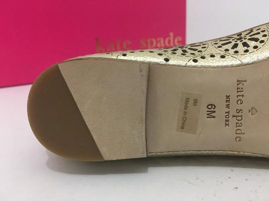 Kate Spade Slip On 6 Gold Metallic Leather Flats Image 9