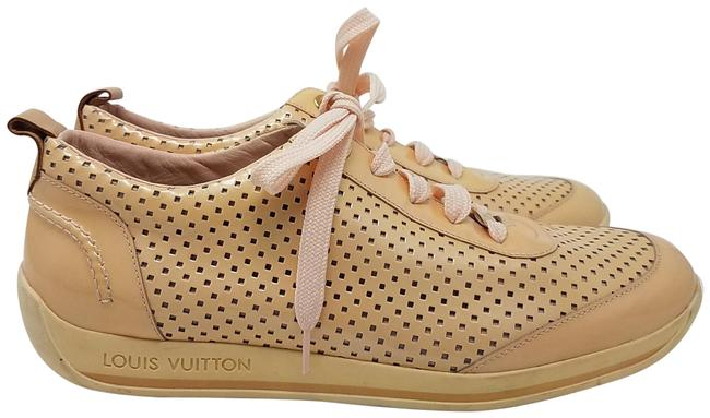 Item - Beige Pink Gold Nude Patent Leather Perforated Round-toe Sneakers Size EU 41 (Approx. US 11) Regular (M, B)