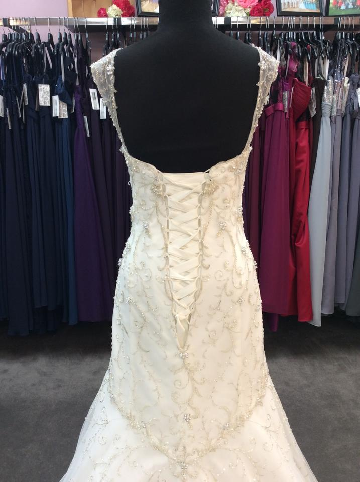 f8b07c39be1 Alfred Angelo Ivory  Silver Tulle with 253 Tiana Sexy Wedding Dress. Street  Size  14 ...