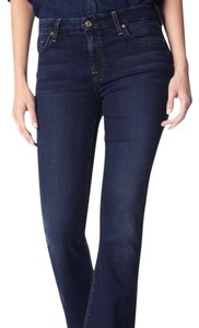 7 For All Mankind 5 Pocket Style Zip Fly Boot Cut Jeans-Dark Rinse