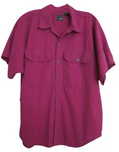 Liz Claiborne Button Down Shirt Fuschia/Purple