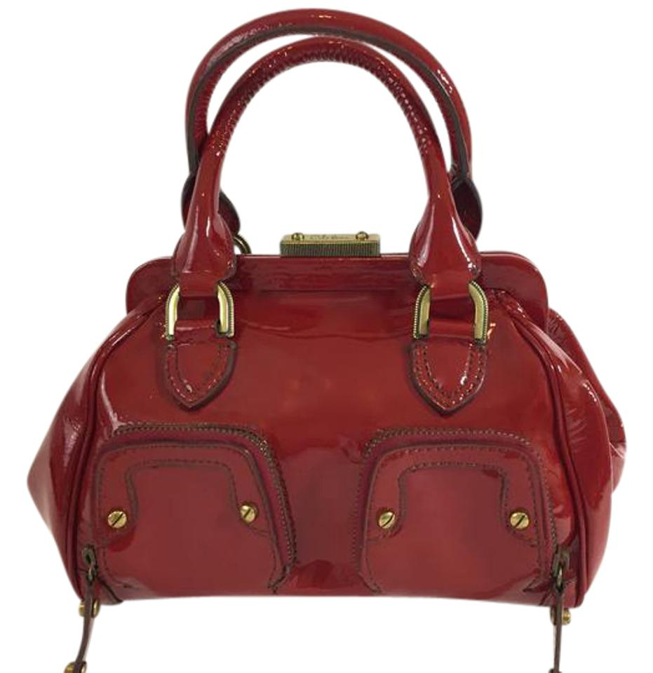 3d5b0d2a46 Cole Haan Patent Leather Frame Handbag Satchel in Red Image 0 ...