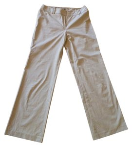 Ann Taylor Khakis Casual Stretchy Boot Cut Pants beige
