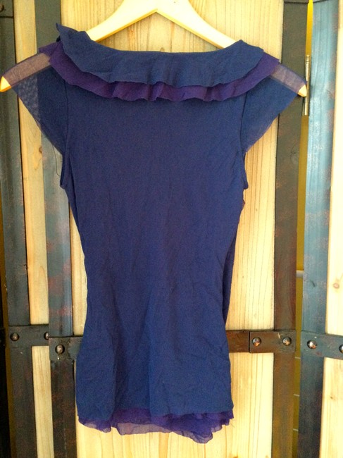Anthropologie Top Purple and Navy