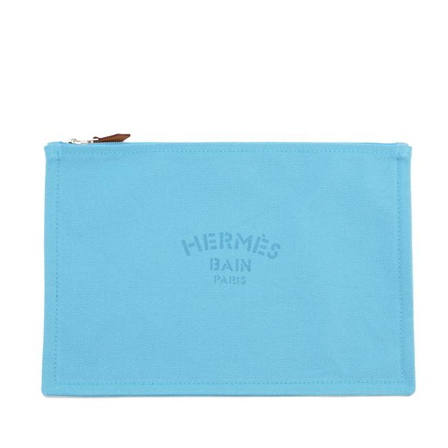 Item - Blue Horizon Cotton Canvas Travel Case Gm In Cosmetic Bag