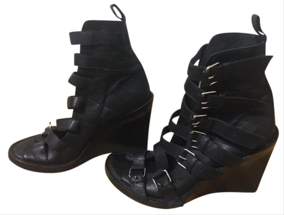 ff82c09f4493d Ann Demeulemeester Black Wedge Ankle Sandal Boots/Booties Size EU 37  (Approx. US 7) Regular (M, B) 65% off retail